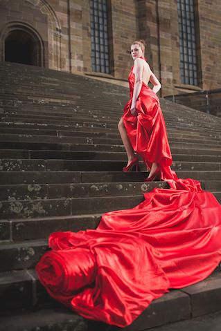 Rotes Kleid - Atelier Kerstin Koerner